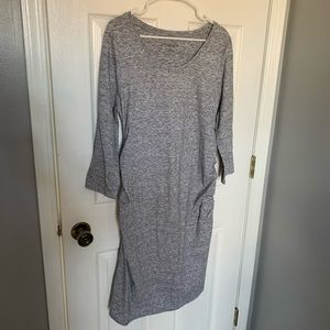 Heathered Gray Maternity Dress